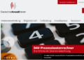 Homepage des Deutschen Anwaltvereins, anwaltverein.de.
