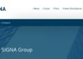 Signa steigt jetzt über Signa Holding GmbH auch bei Thomas Cook ein. Bild: Screenshot Homepage https://www.signa.at/en/company/.
