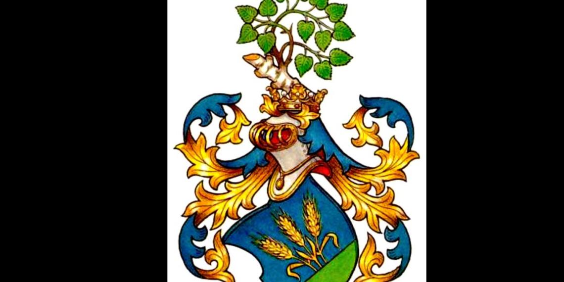 Das Wappen der Familie von Weizsäcker.