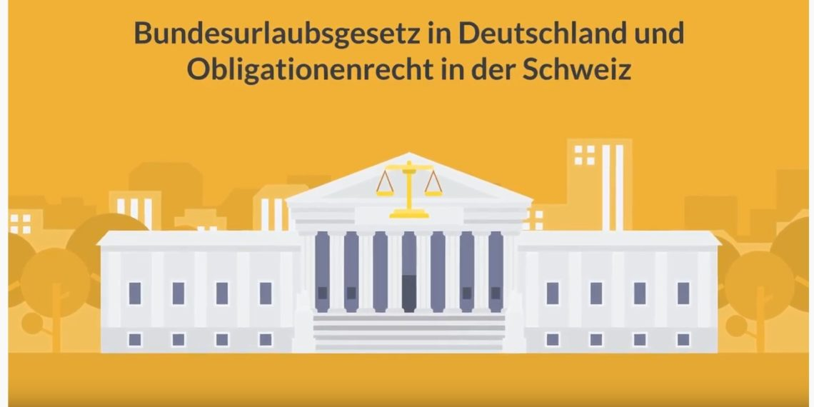 Die gesetzlichen Regeln für Urlaub bzw. Ferien werden in unserem YouTube-Video anschaulich erklärt. (Video-Grafik: Anwalt-Innovativ)