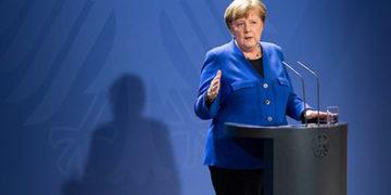 Bundeskanzlerin Angela Merkel bei der Pressekonferenz zur Videoschalte der Länderchefs (Foto: Presse und Informationsamt der Bundesregierung)
